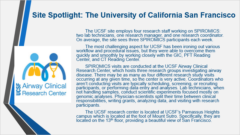 Photo for Site Spotlight on Univ of California San Francisco