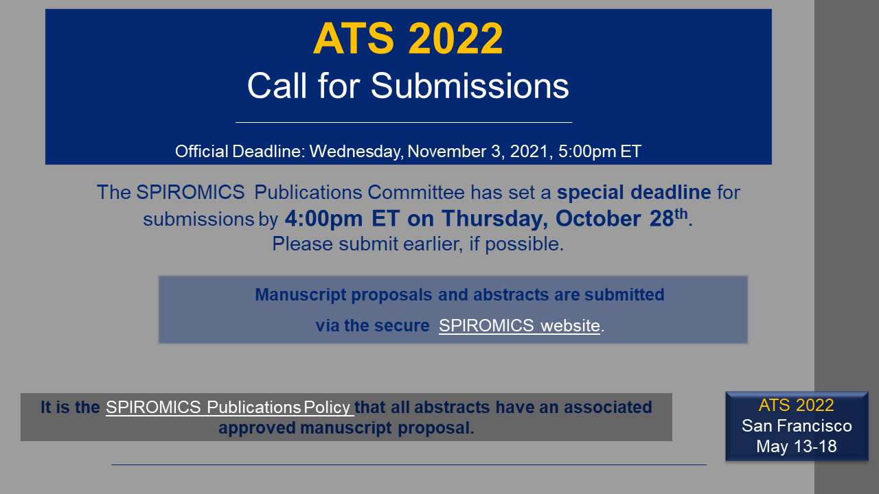 ATS 2022 Call for Submissions