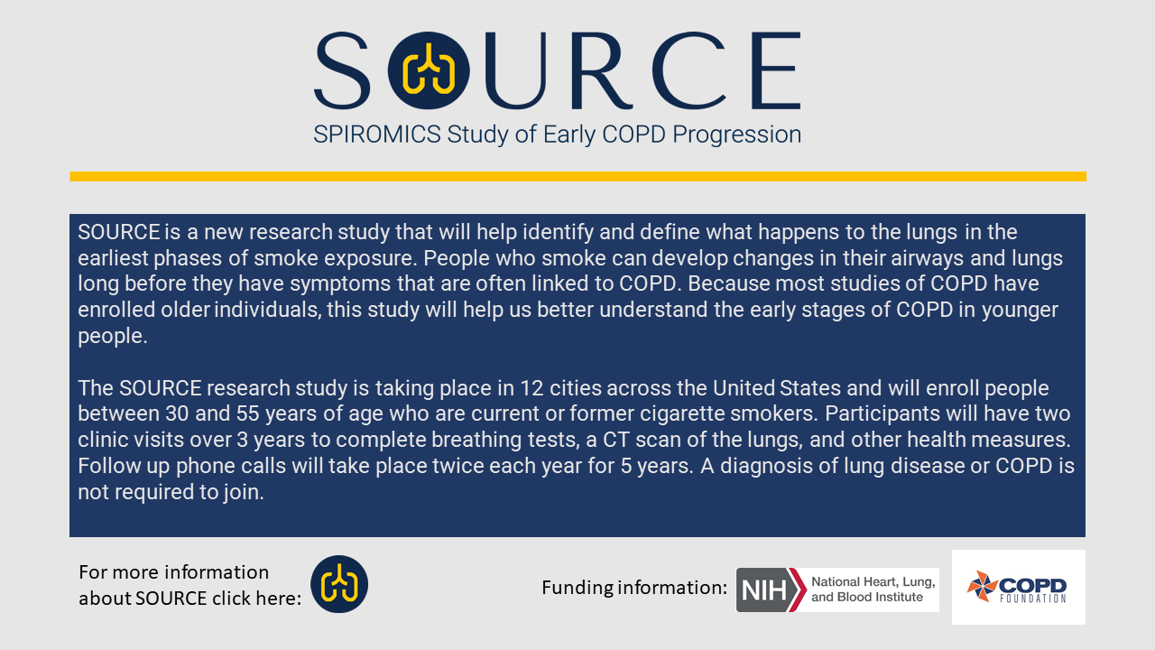 SOURCE Study of Early COPD Progression
