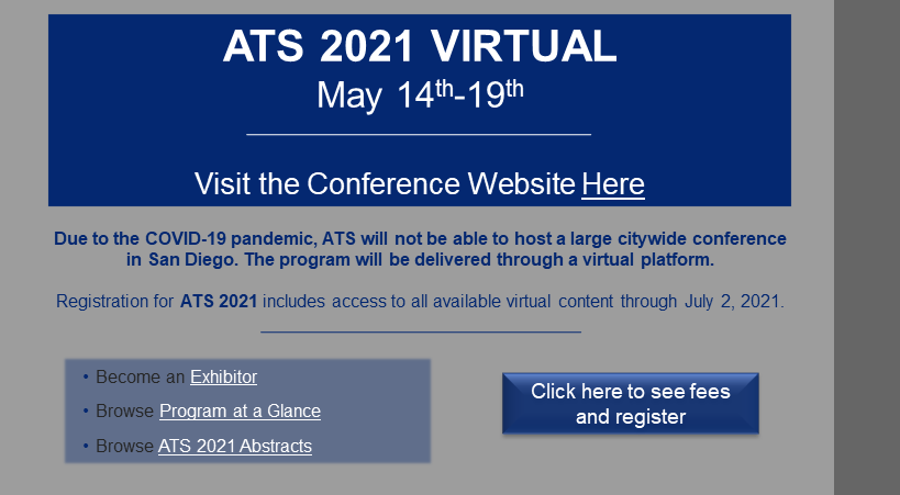 ATS Virtual Conference Information